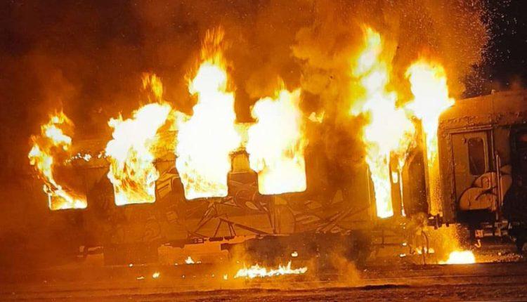 incendiu vagoane cluj